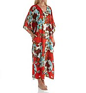 N by Natori Blossoming Fans Caftan CC0101