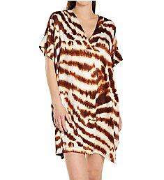 N by Natori Ethereal Tiger Short Caftan MC2010