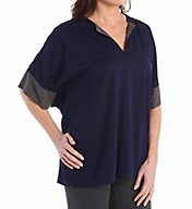 N by Natori Oasis Solid Jersey Tunic Top VC5003