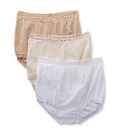 Olga Secret Hug Scoop Full Brief Panty - 3 Pack 873J3