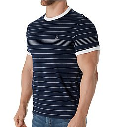 Original Penguin Engineered Fine Stripe Crew T-Shirt OPK7078