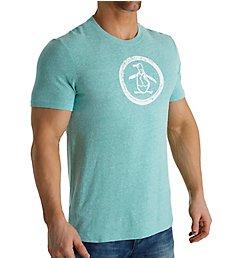 Original Penguin Triblend Distressed Circle Logo T-Shirt OPK7611