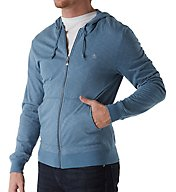 Original Penguin Slub Feeder Long Sleeve Full Zip Hoodie OPKF612
