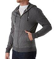 Original Penguin Slub Feeder Long Sleeve Full Zip Hoodie OPKF612
