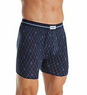 Original Penguin Dark Denim Pete Argyle Print Boxer Brief RPM3183