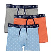 Original Penguin Cotton Stretch Fashion Knit Boxer Briefs - 3 Pack RPM8207