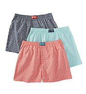 Original Penguin Penguin Toss 100% Cotton Woven Boxers - 3 Pack RPM8616