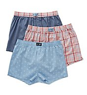Original Penguin Multi Penguin Plaid Boxer - 3 Pack RPM8617