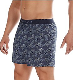 Perry Ellis Luxe Peacock Paisley Print Boxer Short 163050