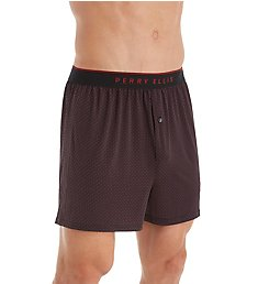 Perry Ellis Luxe Neat Print Boxer Short 163055