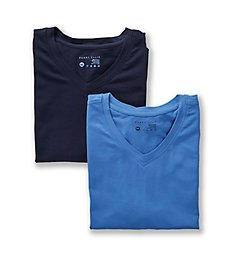 Perry Ellis Conformity Cotton Stretch V-Neck T Shirts - 2 Pack 210002