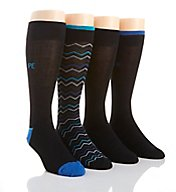 Perry Ellis Superior Soft Luxury Chevron Dress Socks - 4 Pack 434545