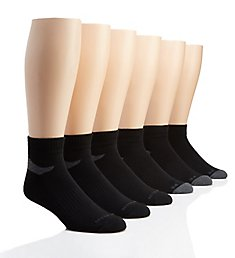 Perry Ellis Speed Dry Performance Quarter Socks - 6 Pack 436283