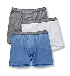 Perry Ellis Identity 100% Pure Cotton Boxer Briefs - 3 Pack 536108