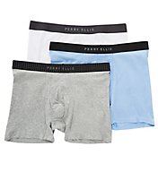Perry Ellis Portfolio Cotton 1 x 1 Rib Boxer Briefs - 3 Pack 536110