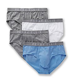 Perry Ellis Identity 100% Pure Cotton Briefs - 4 Pack 543107