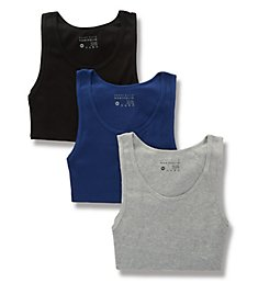Perry Ellis 2X1 Rib Cotton Tanks - 3 Pack 568106
