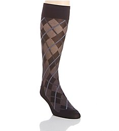 Perry Ellis Microfiber Luxury All Over Argyle Sock 839678