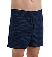 Perry Ellis Cotton Knit Mini Dot Print Boxer Short 850807