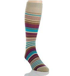 Perry Ellis Tencel Striped Luxury Sock 869539