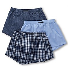 Perry Ellis 100% Cotton Woven Boxers - 3 Pack 879781