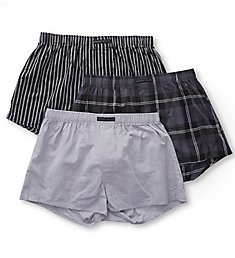 Perry Ellis 100% Cotton Woven Boxers - 3 Pack 879786