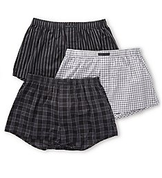 Perry Ellis 100% Cotton Woven Boxers - 3 Pack 879791