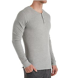 Perry Ellis Saturday Morning Thermal Long Sleeve Henley 947617