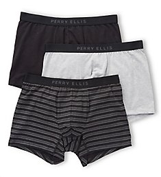 Perry Ellis Birds Eye Cotton Stretch Boxer Briefs - 3 Pack 960585