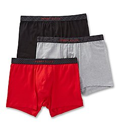 Perry Ellis Cotton Stretch Boxer Briefs - 3 Pack 960592