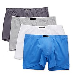 Perry Ellis Portfolio Cotton Stretch Boxer Briefs - 4 Pack 960624