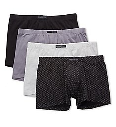 Perry Ellis Portfolio Cotton Stretch Boxer Briefs - 4 Pack 960626