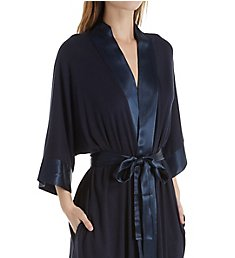 PJ Harlow Knit Robe With Pockets And Satin Trim Shala
