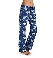 PJ Salvage Fantastic Flannel Blue Elephant Pant RZBAP