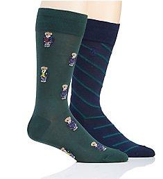 Polo Ralph Lauren All Over Preppy Polo Bear Socks - 2 Pack 899756PK