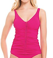 Profile by Gottex Waterfall D-Cup Underwire Tankini Swim Top 7681D46
