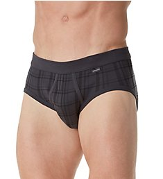 Schiesser Plaid Sports Brief 154457