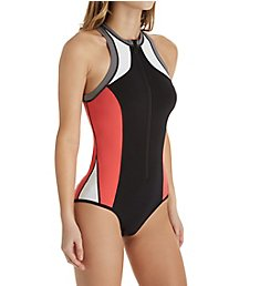 Seafolly Resist Me Zip Front Surfsuit One Piece Swimsuit 10753RM