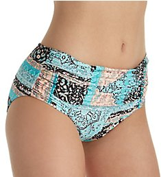 Seafolly Moroccan Moon Gathered Retro Brief Swim Bottom 40343MM