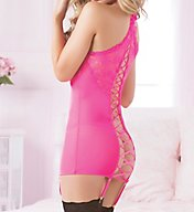 Seven 'til Midnight All Laced Up Two Piece Chemise Set 10606P