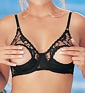 Shirley of Hollywood Lace Underwire Open Tip Bra 369