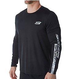 Skechers Textured Sport Logo Long Sleeve T-Shirt SMLT1697