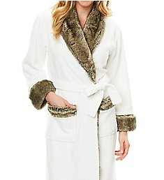 Softies by Paddi Murphy 50 Inch Faux Fur Trim Robe 5914-60