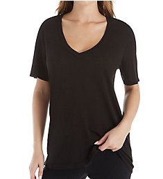 Splendid Cotton Modal Slub Everly Short Sleeve V-Neck Tee RF8K320