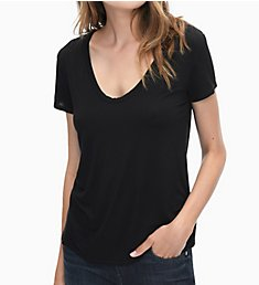 Splendid Rayon Jersey Sloane Short Sleeve Scoop Neck Tee RF8K340