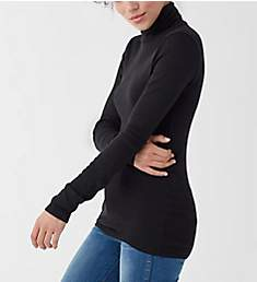 Splendid 1X1 Rib Long Sleeve Turtleneck RF8K560