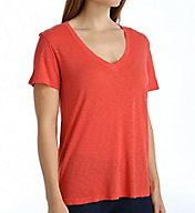 Splendid Slub Jersey Short Sleeve V-Neck Tee ST10144