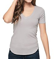 Splendid 1x1 Short Sleeve Deep V-Neck Tee ST10154