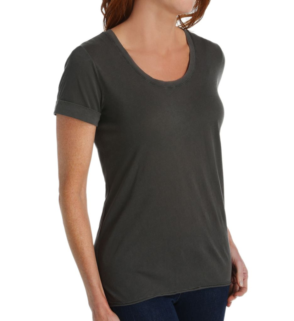 Splendid Vintage Whisper Scoop Neck Rolled Sleeve Tee ST10415