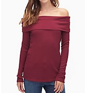 Splendid Thermal Off Shoulder/Cowl Tee ST10655